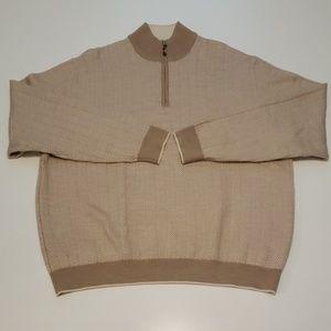 Bobby Jones Mens 1/4 Zip Sweater XL Merino Wool